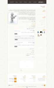 صفحه داخلی قالب html و وردپرس شخصی آریا