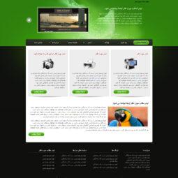 صفحه اصلی قالب html و وردپرس شخصی نیلوفر