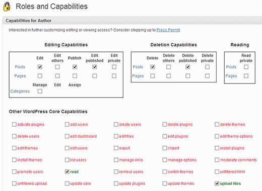 تغییر قابلیت های نقش کاربران | وردپرس | capability manager enhanced