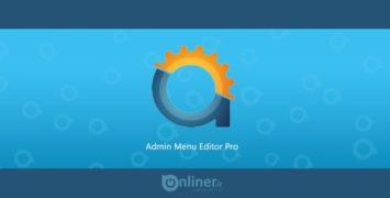 افزونه ویرایش منوی مدیریت | Admin Menu Editor