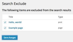 افزونه Search Exclude