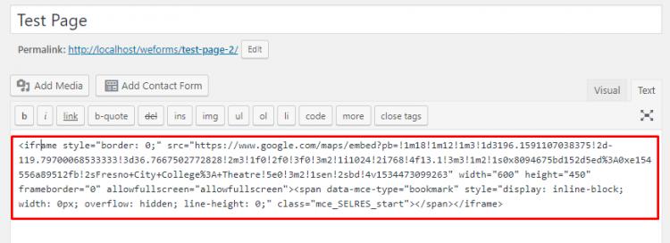 قرار دادن نقشه گوگل با استفاده از Embedded