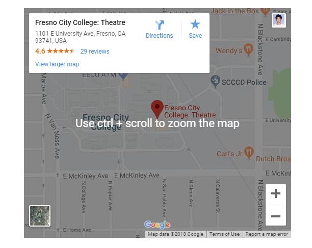 چگونگی نمایش نقشه گوگل
